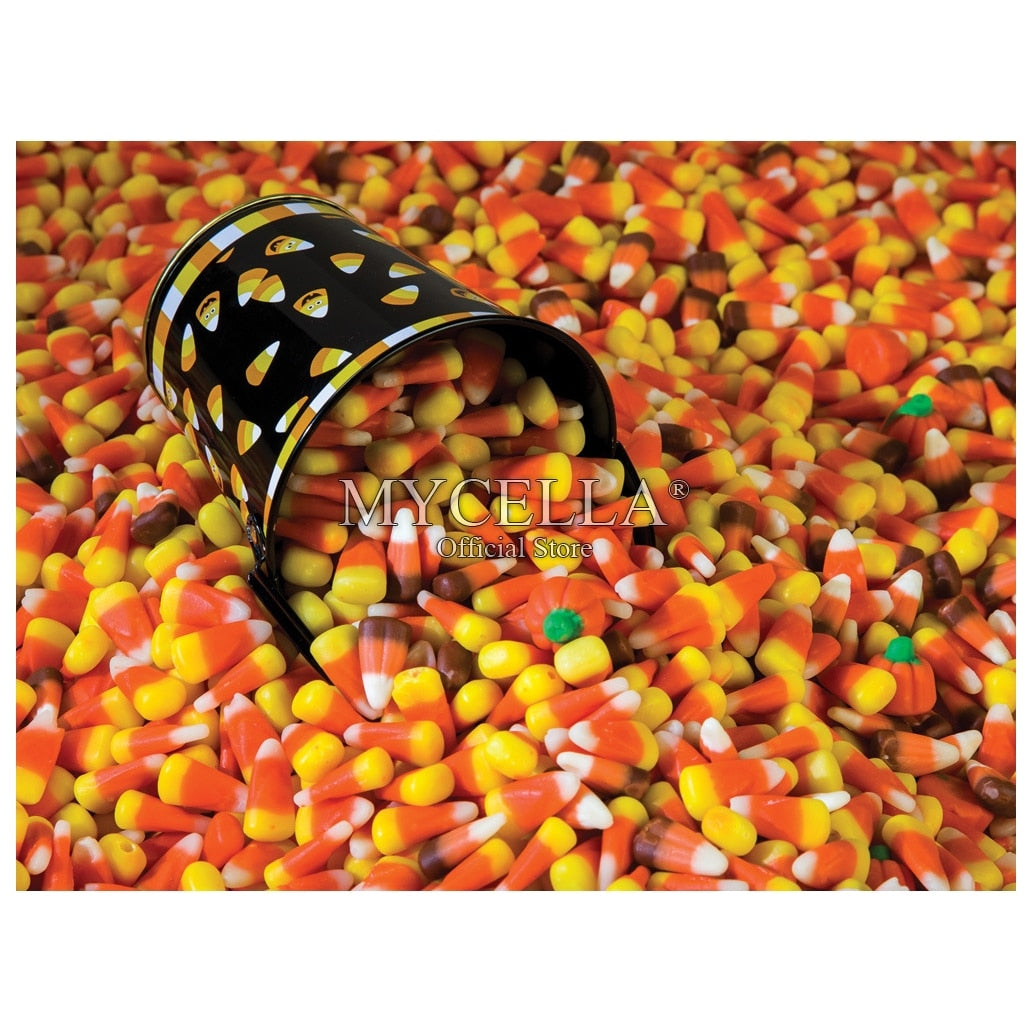 5D DIY Diamond Painting Bucket of Candy Corn - craft kit