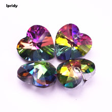 Ipridy DIY Vitrail 14mm Heart Shaped Glass Diamond Crystal Beads 20pc lot