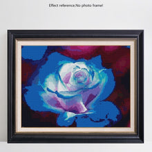 5D DIY Diamond Painting Bright Blue and White Rose - craft kit