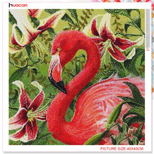 DIY Diamond Painting Flamingo and Lilies - craft kit