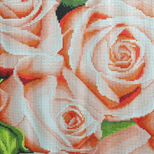 DIY Diamond Painting Long Cluster of Pink Roses - craft kit