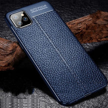 Apple iPhone 12 Soft TPU Slim Leather Cell Phone Case