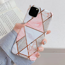 LACK Geometric Marble Look Phone Case iPhone 7 through 12 Model