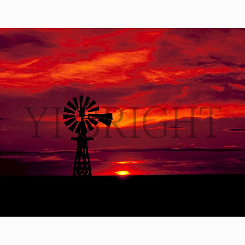 5D DIY Diamond Painting Sunset Well - craft kit
