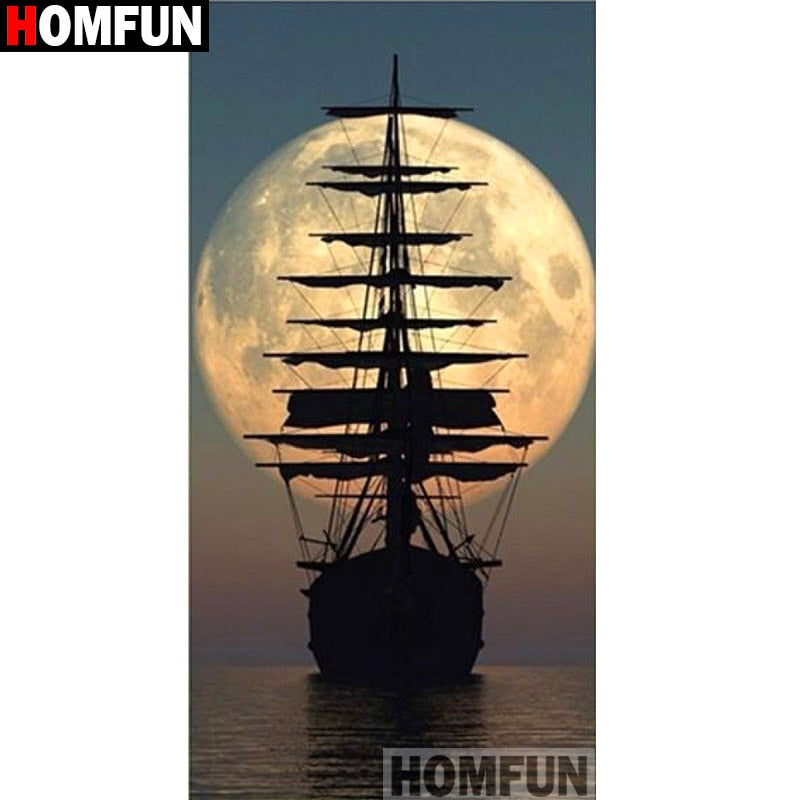 5D DIY Diamond Painting Sailing with the Moon - craft kit