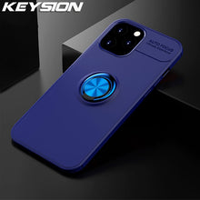 Keysion Apple iPhone 12 Soft TPU Case with Metal Ring Stand