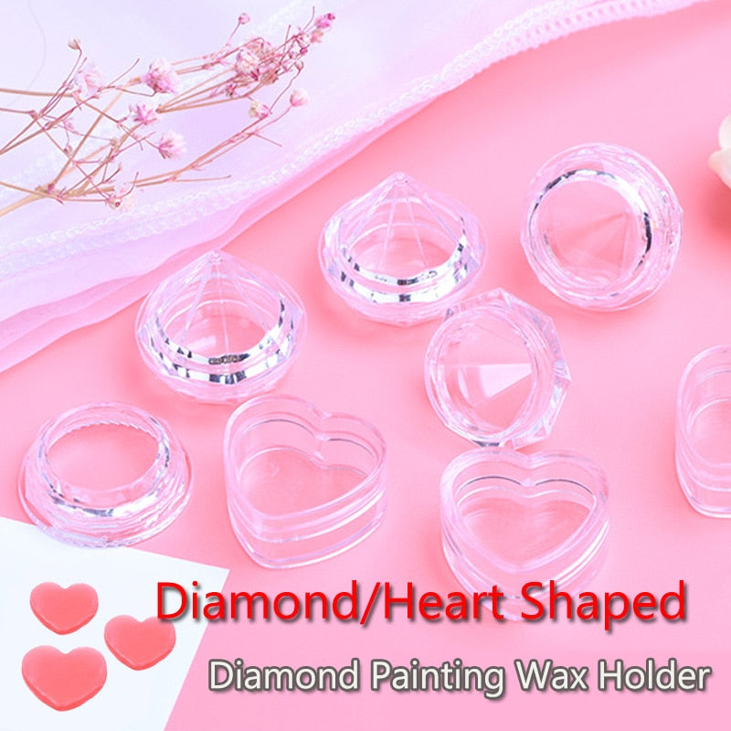 Diamond Painting Wax Container in Heart or Diamond Shape