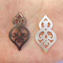 DIY Carved Dangle Curved Shell Pendant Bead