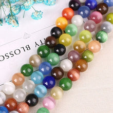 12 Color Options Round Cat's Eye 15in Strand of Beads 4mm through 14mm