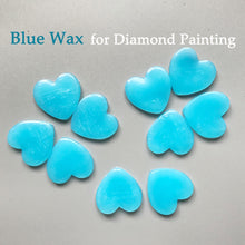 Diamond Painting Blue Wax Small Hearts or Heart Containers for Wax