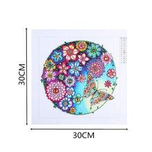 5D DIY Diamond Painting Butterfly Floral Collage Circle Partial - craft kit