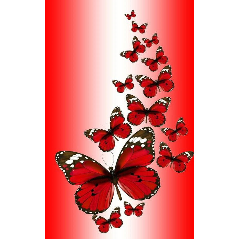 5D DIY Diamond Painting Red Butterflies - craft kit