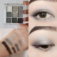 Smoky Gray Eye Shadow 9 Color Palette