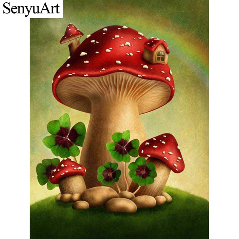 DIY Diamond Painting Lucky Mushrooms - craft kit