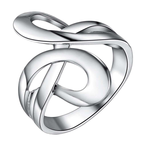 925 Silver Abstract Swirl Ring