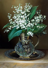 DIY Diamond Painting Lily of the Valley, floral in vase - Craft Kit