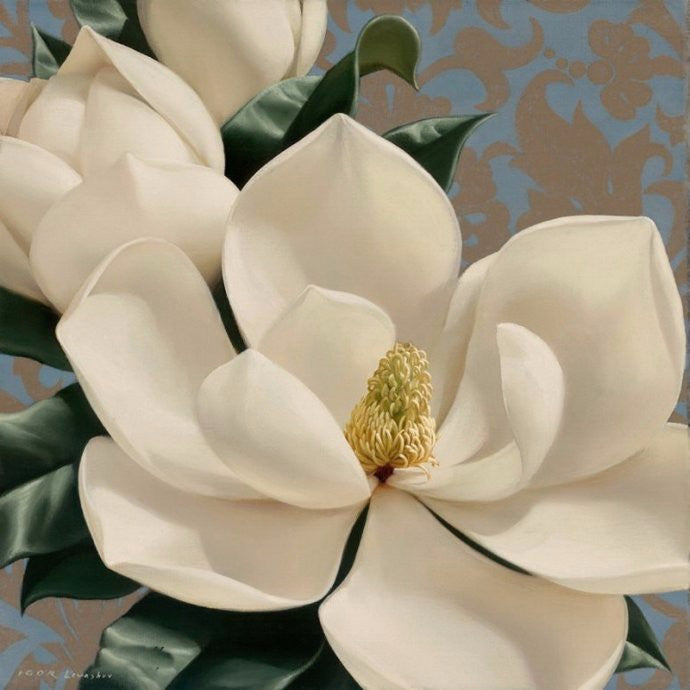 5D DIY Diamond Painting White Magnolia - Craft Kit