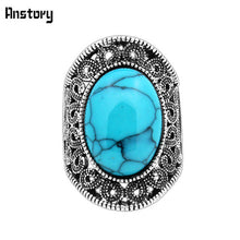 Silverplated Intricate Floral Ring with Oval Stone, Turquoise, White, Red, Black Options