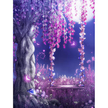 5D DIY Diamond Painting Wisteria Swing - Craft Kit