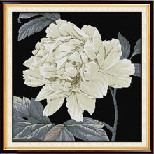 DIY Counted or Stamped Cross Stitch White Peony - thread kit