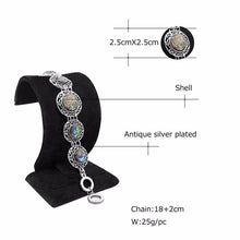 Anstory Women's Antique Silver Plated Round Shell Bracelet