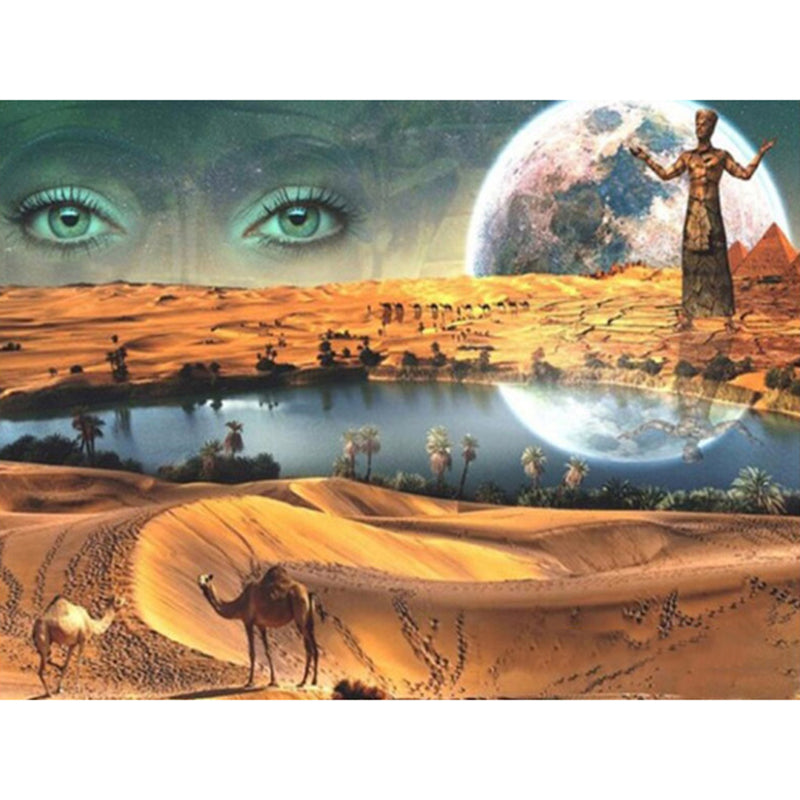 5D DIY Diamond Painting Desert with Eyes - craft kit