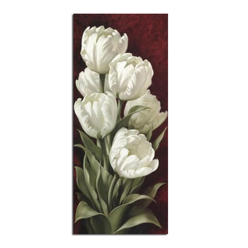 DIY Diamond Painting White Tulips - craft kit
