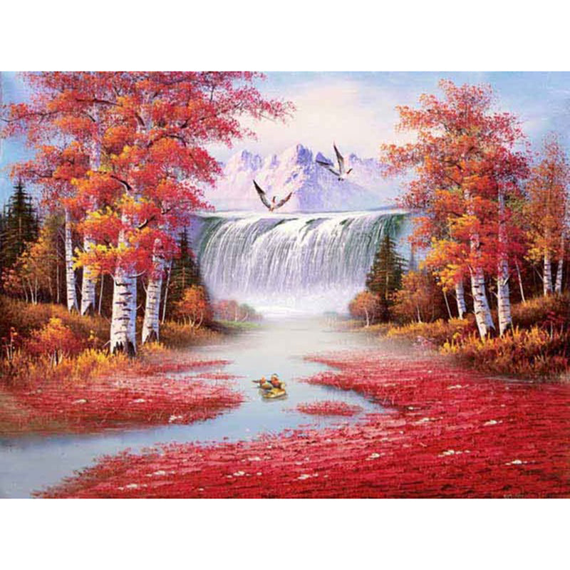 5D DIY Diamond Painting Fenglin Waterfall in Fall - craft kit