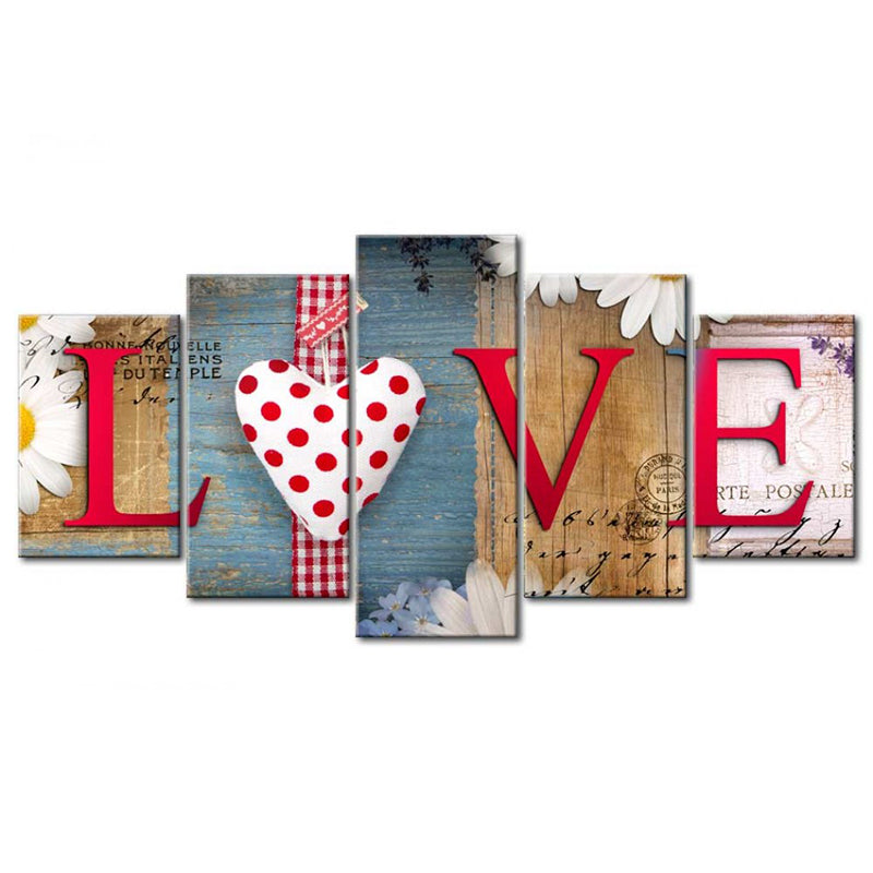 5D DIY Diamond Painting Country Primitive Love Multi Panel - craft kit