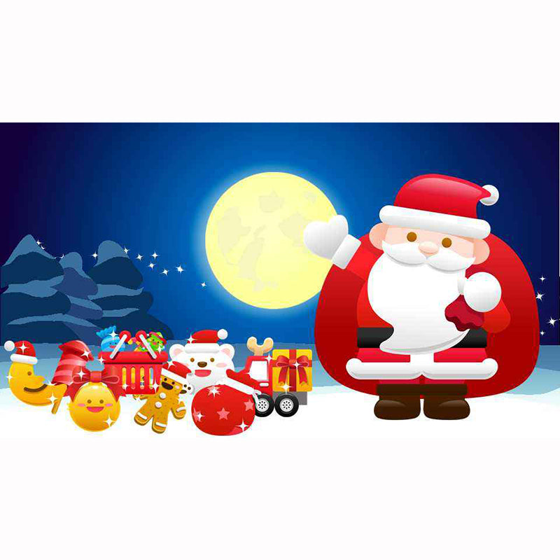 5D DIY Diamond Painting Cartoon Santa with Toys - craft kit