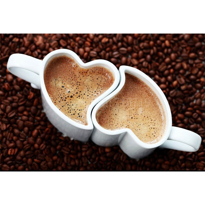 5D DIY Diamond Painting Heart Coffee Cups - craft kit