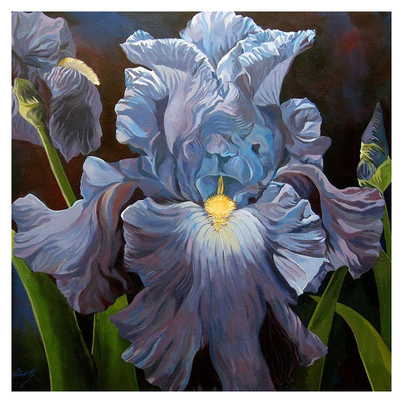 3D DIY Diamond Painting Blue Bearded Iris - craft kit
