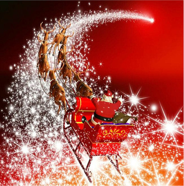 5D DIY Diamond Painting Magical Christmas Sleigh Ride - craft kit