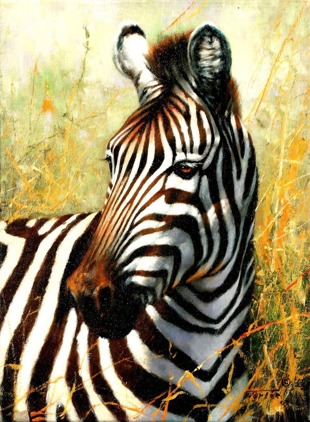 5D DIY Diamond Painting Zebra Head - craft kit