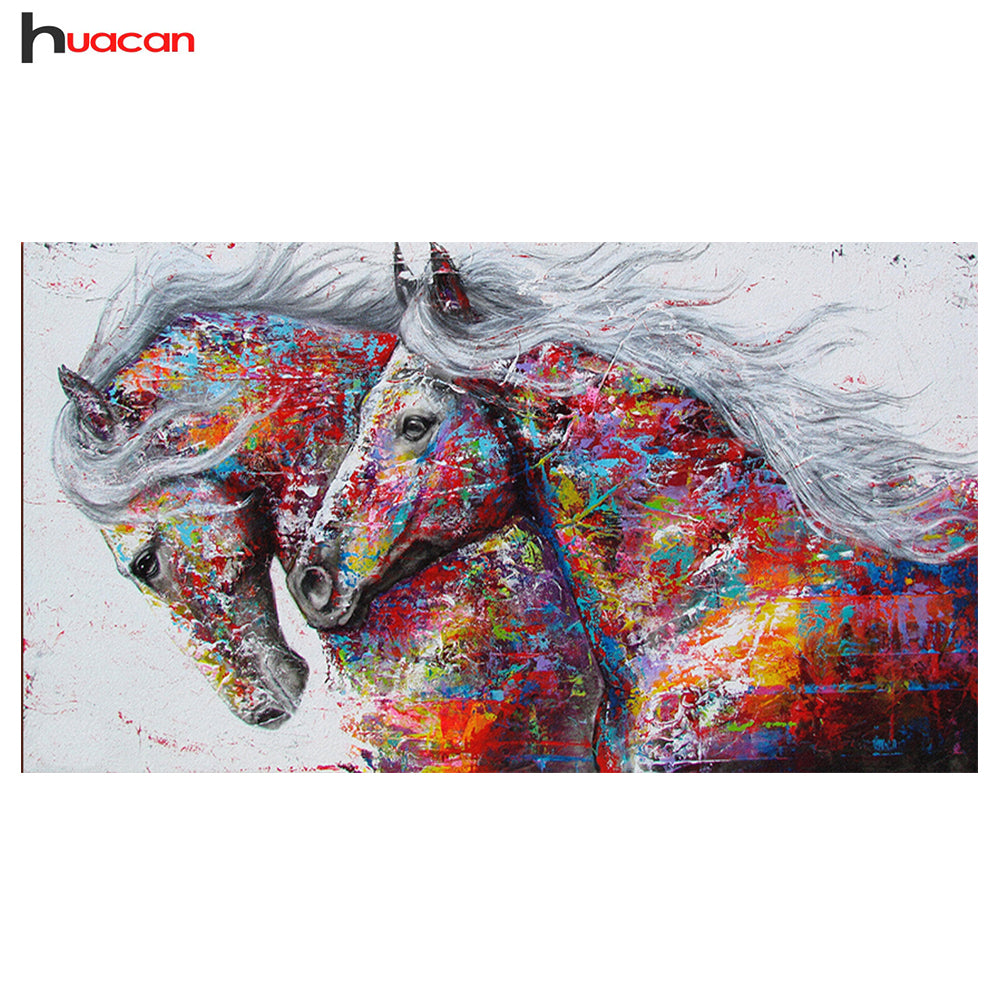 DIY Diamond Painting Splash Paint Horses - craft kit