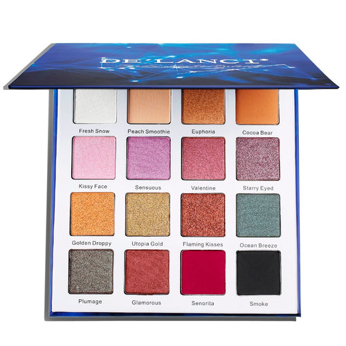 DE'LANCI Eyeshadow Palette Matte and Shimmer 16 color Set