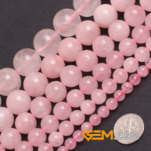 Natural Pink Rose Quartz Round Strand Beads 15in 3-16mm size options