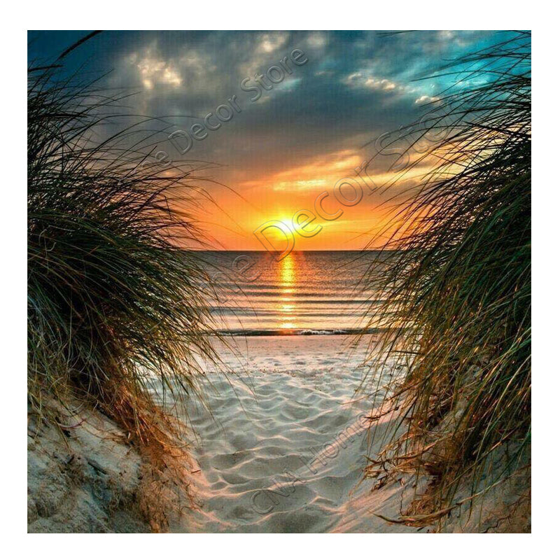 5D DIY Diamond Painting Sunset on White Sands Beach - craft kit