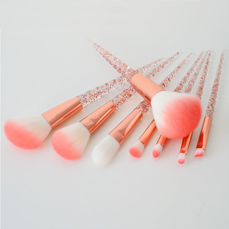 Ideal Royal Women's 8pc Peach Unicorn Twist Brush Set