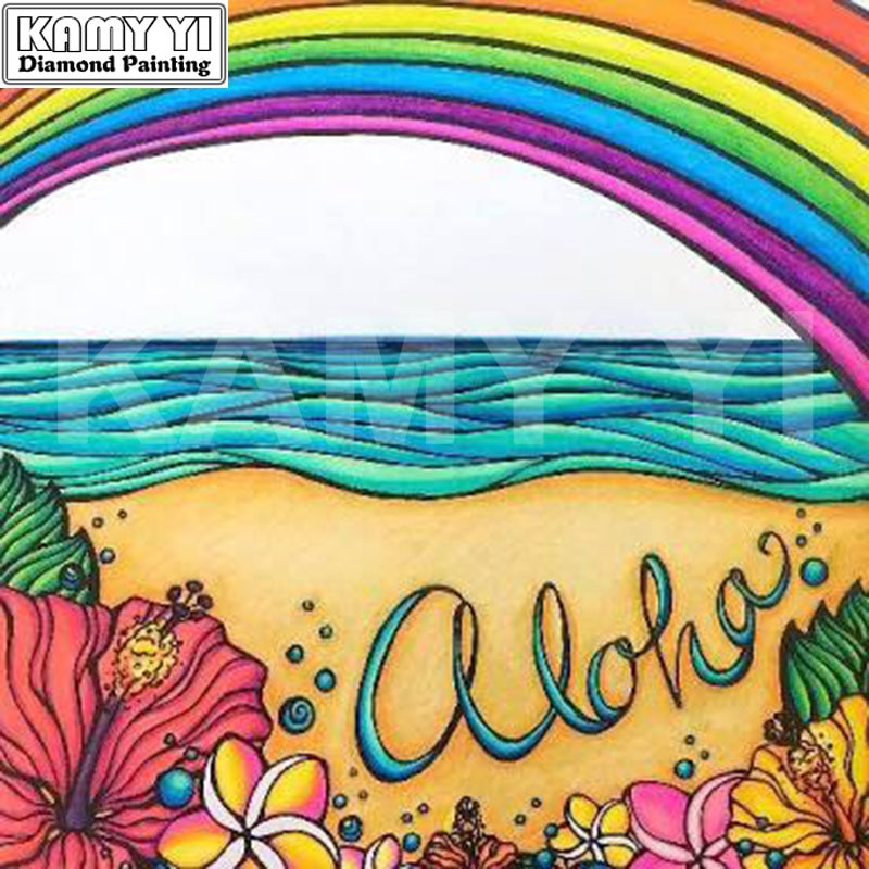 5D DIY Diamond Painting Aloha Tropical Drawing - craft kit