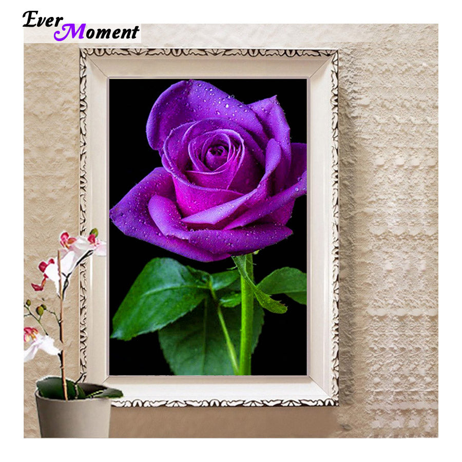 5D DIY Damond Painting One Purple Rose - craft kit