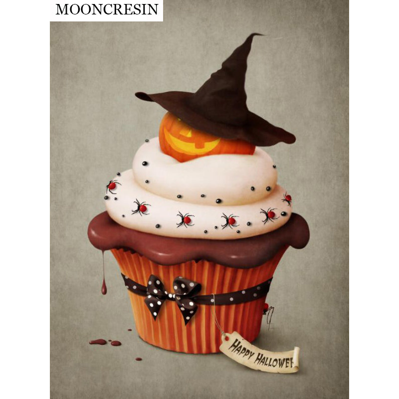 5D DIY Diamond Painting Happy Halloween Cupcake - craft kit