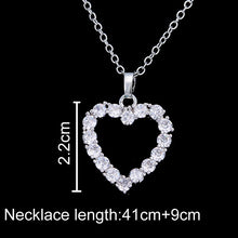 EMMAYA Women's CZ Crystal Heart Pendant Red or 3 other color options Necklace