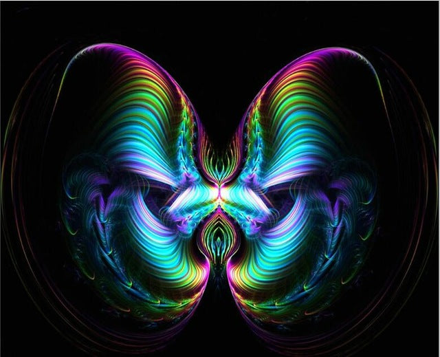 5D DIY Diamond Painting Psychedelic Waves Butterfly - craft kit