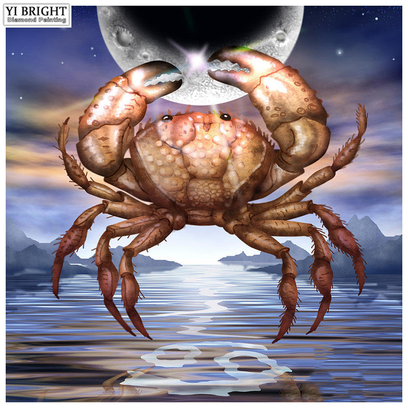 5D DIY Diamond Painting Cancer Crab over Water - craft kit