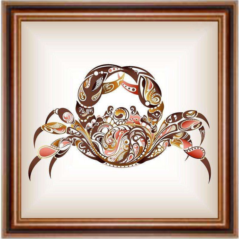 DIY Diamond Painting Neutral Abstract Crab - craft kit