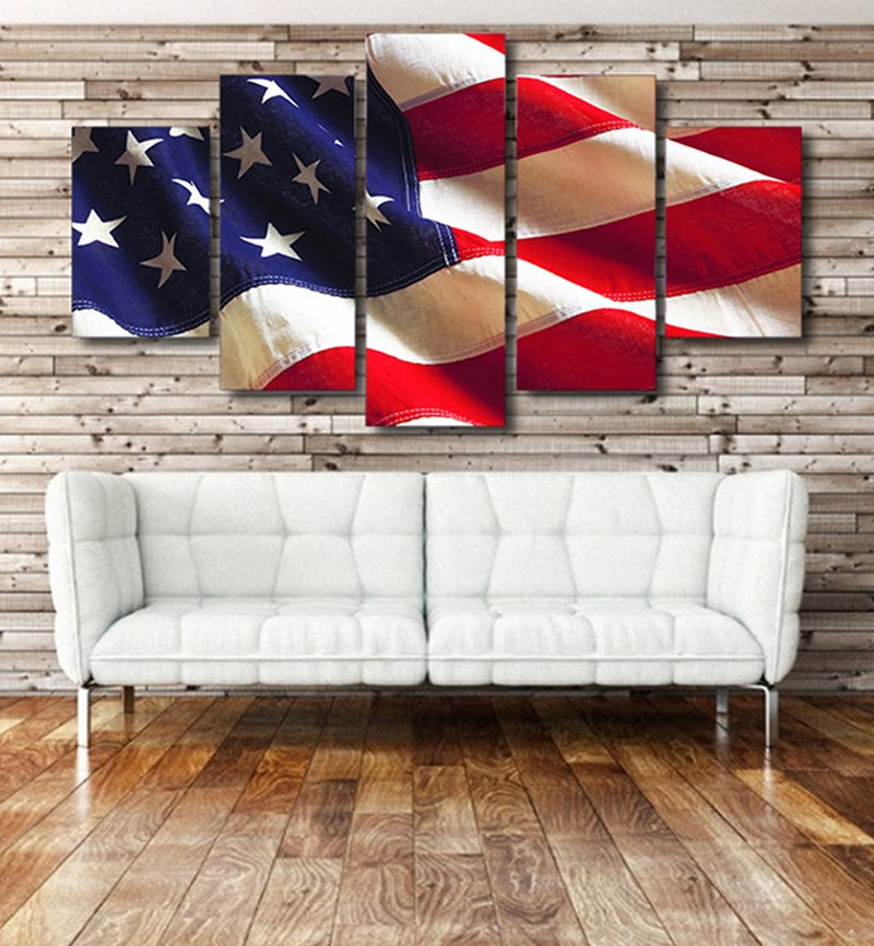 DIY Diamond Painting American Flag Multi Panel - craft kit