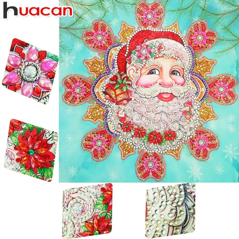 DIY Diamond Painting Santa Claus Partial - craft kit