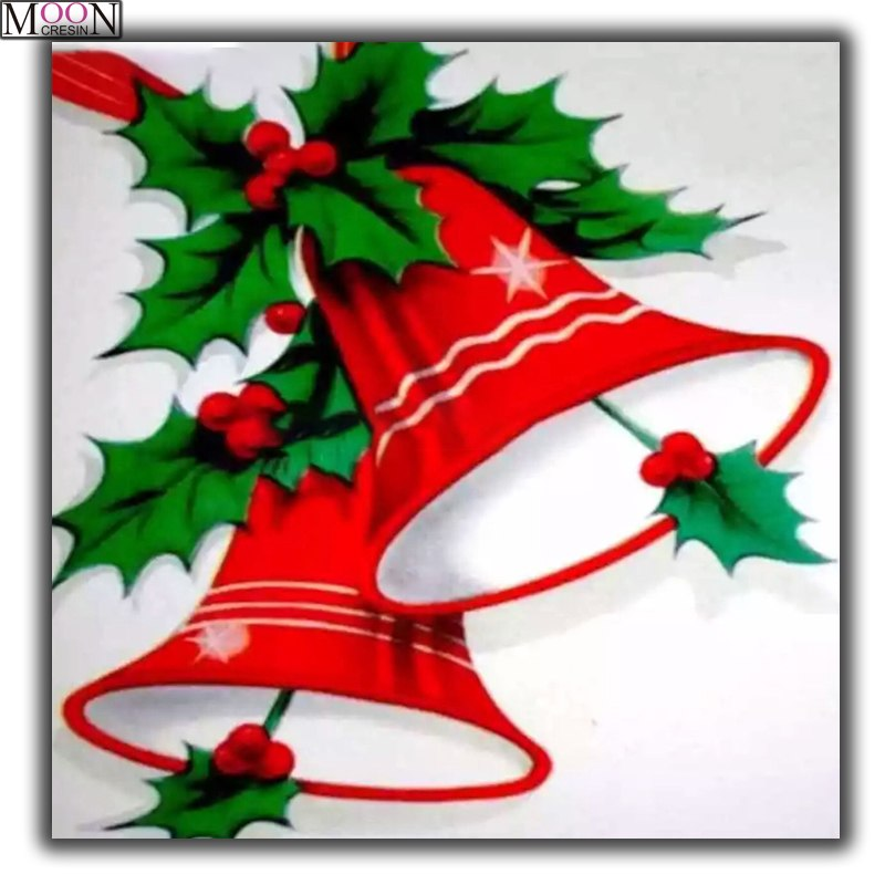 DIY Diamond Painting Red Christmas Bells Drawing