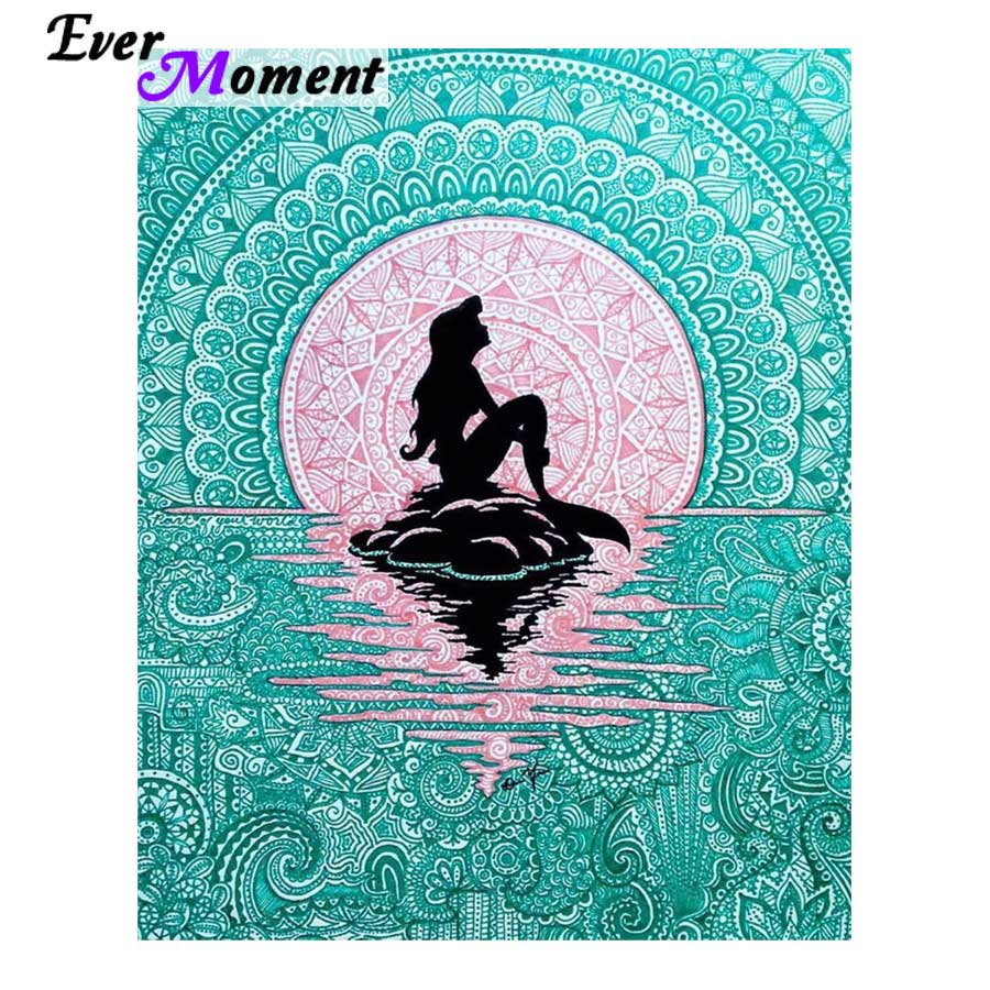 5D DIY Diamond Painting Mermaid Mandala - craft kit